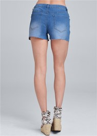 Back View Leopard Piping Detail Shorts