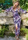 Front View Deep V Maxi Dress