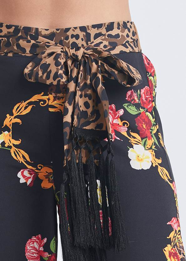 Alternate View Floral And Leopard Pants