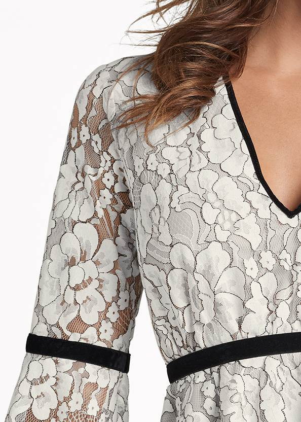 Detail front view Lace Bell Sleeve Top