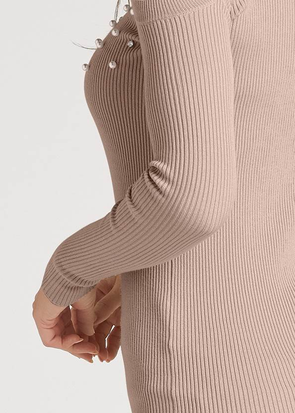 Detail back view Pearl And Stone Embellished Sweater