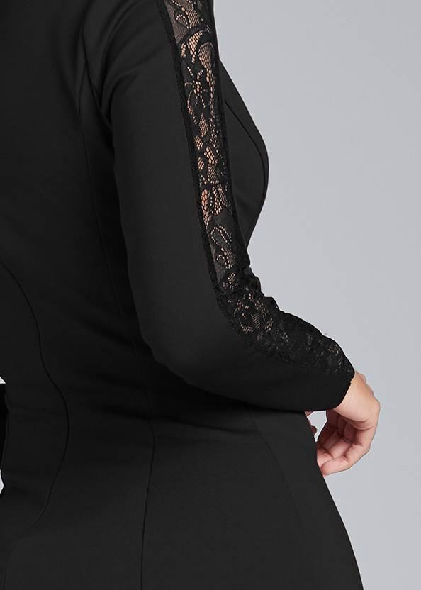Alternate View Lace Detail Blazer Dress