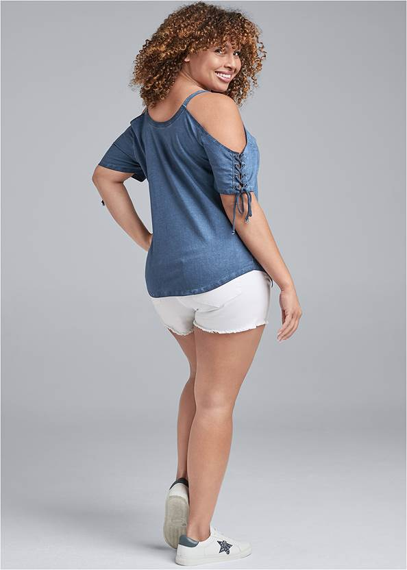 Alternate View Mineral Wash Lace Up Top