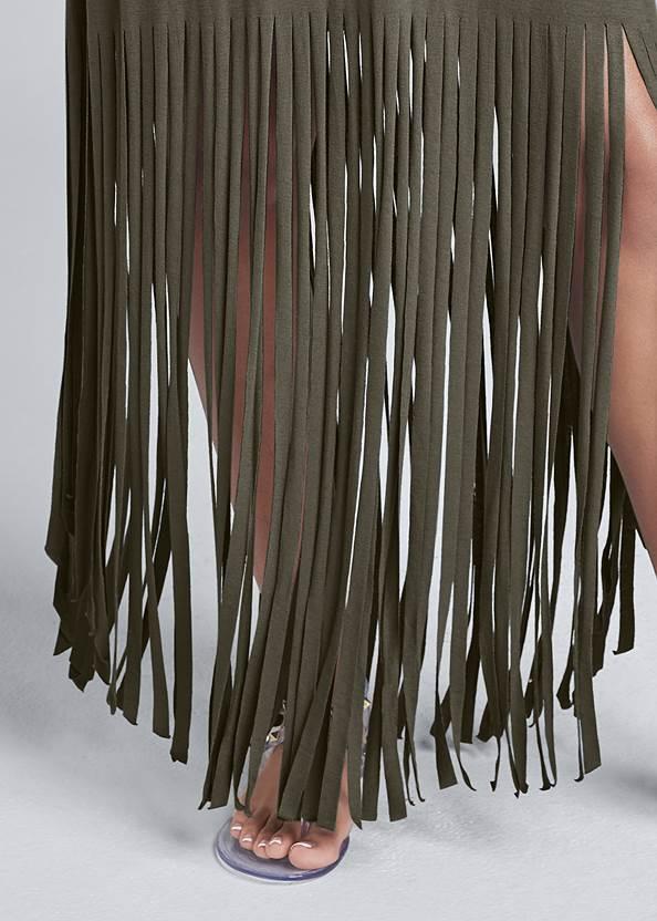 Alternate View Fringe Detail Maxi Dress
