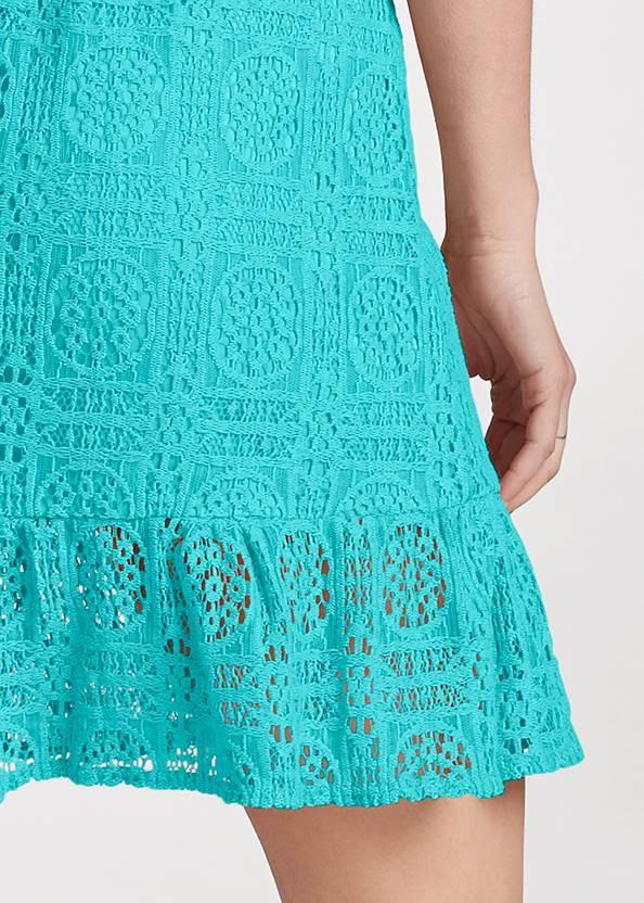Alternate View Strapless Lace Mini Dress