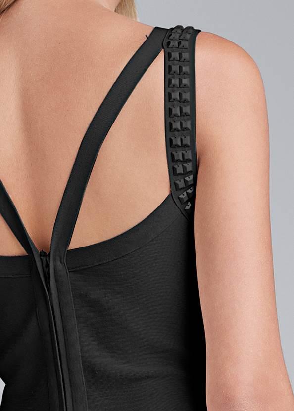 Detail back view Fringe Bandage Dress