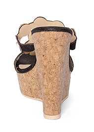 Alternate View Beaded Cork Wedge