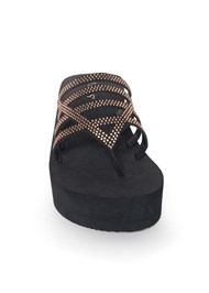 Alternate View Beaded Comfort Wedge Sandal