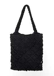 Flatshot back view Rhinestone Crochet Mini Bag