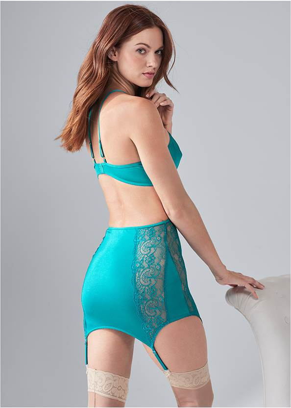 Back View Strappy Plunge Chemise