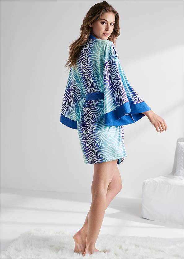 Full back view Satin Sleep Robe