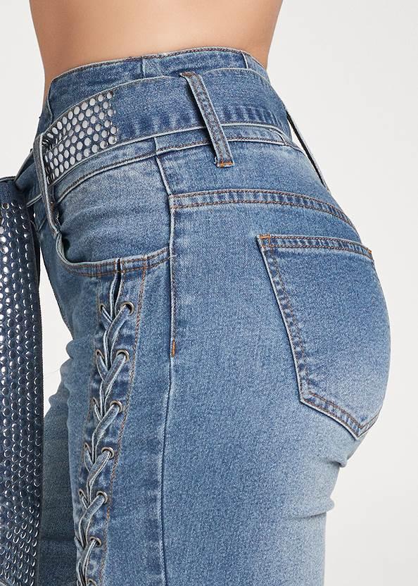 Alternate View Lace Up Tie Belt Jeans