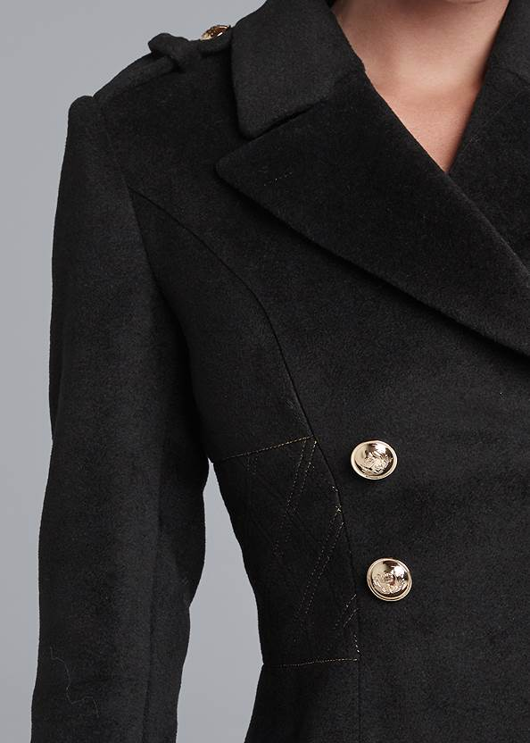 Detail front view Double Breasted Jacket