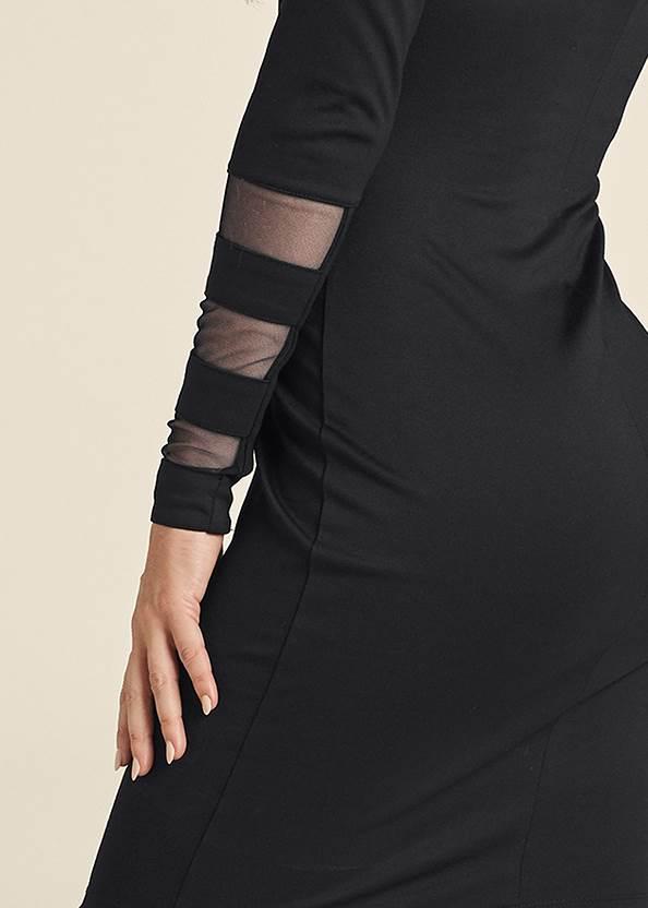Detail back view Mesh Detail Bodycon Dress
