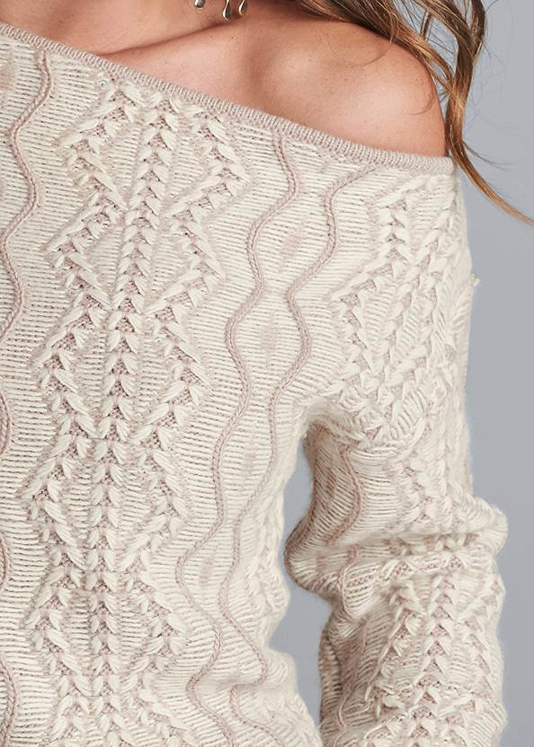Alternate View One-Shoulder Sweater Dress