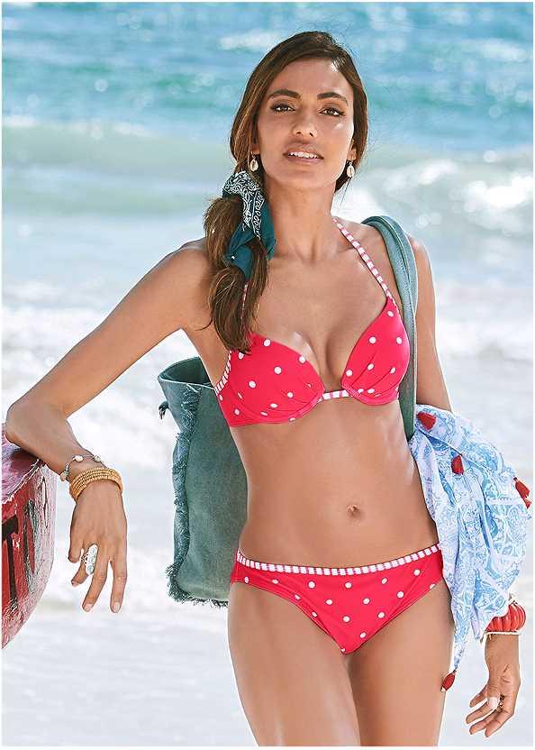 Low Rise Bikini Bottom,Underwire Bikini Top,Halter Bikini Top,Goddess Enhancer Push Up Halter Top,Enhancer Push Up Ring Halter Triangle Top ,Jillian Underwire Top,Crochet Detail Cover-Up,Convertible Straw Tote Bag