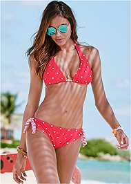 Cropped Front View Halter Bikini Top