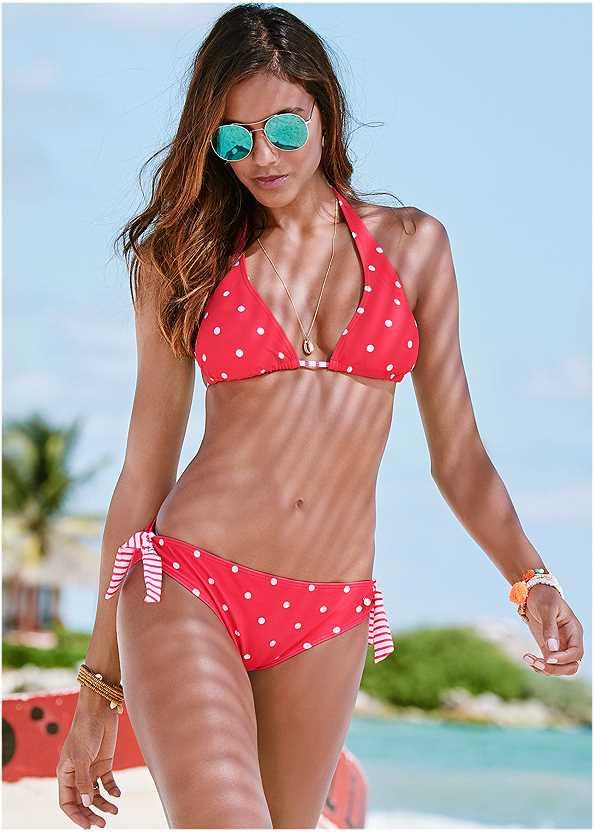 Sash Tie Bottom,Halter Bikini Top,Underwire Bikini Top,Enhancer Push Up Ring Halter Triangle Top ,Goddess Enhancer Push Up Halter Top,Jillian Underwire Top,Deep V Beach Cover-Up,Convertible Straw Tote Bag