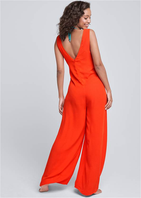 Back View Wrap Romper Cover-Up