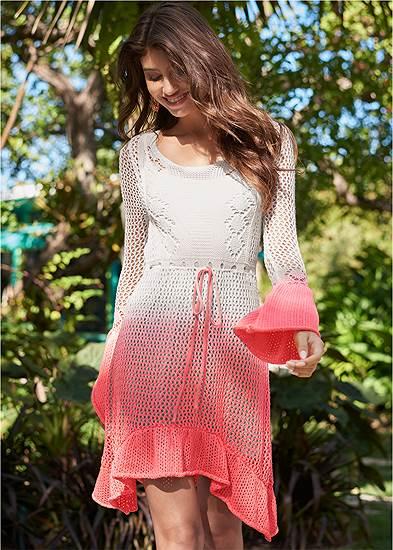 Ombre Crochet Mini Dress