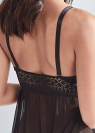 Detail back view Geo Lace Babydoll