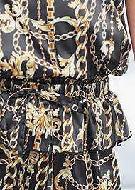 Detail front view Lace Trim Shorts Set