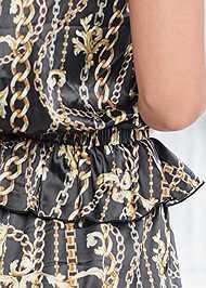 Detail back view Lace Trim Shorts Set