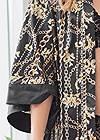 Detail front view Satin Kimono Robe