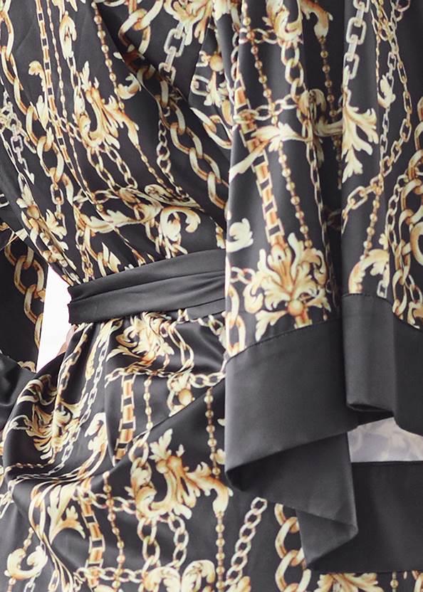 Detail back view Satin Kimono Robe