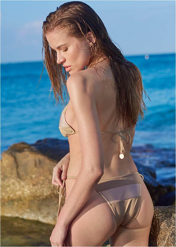 Back View Sports Illustrated Swim™ Color Block Triangle Top