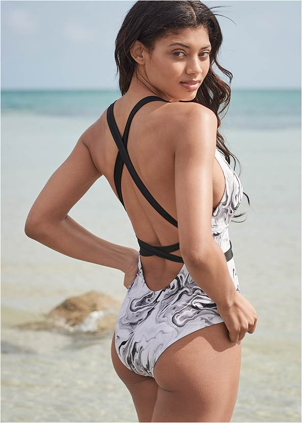 Cropped back view Sports Illustrated Swim™ Rio Wrap One-Piece
