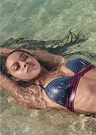Alternate View Sports Illustrated Swim™ Logo Triangle Push Up Top