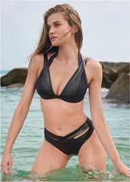 Front View Sports Illustrated Swim™ Brazilian Crisscross Bottom