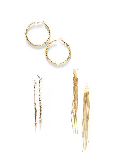 Statement Gold Earring Set