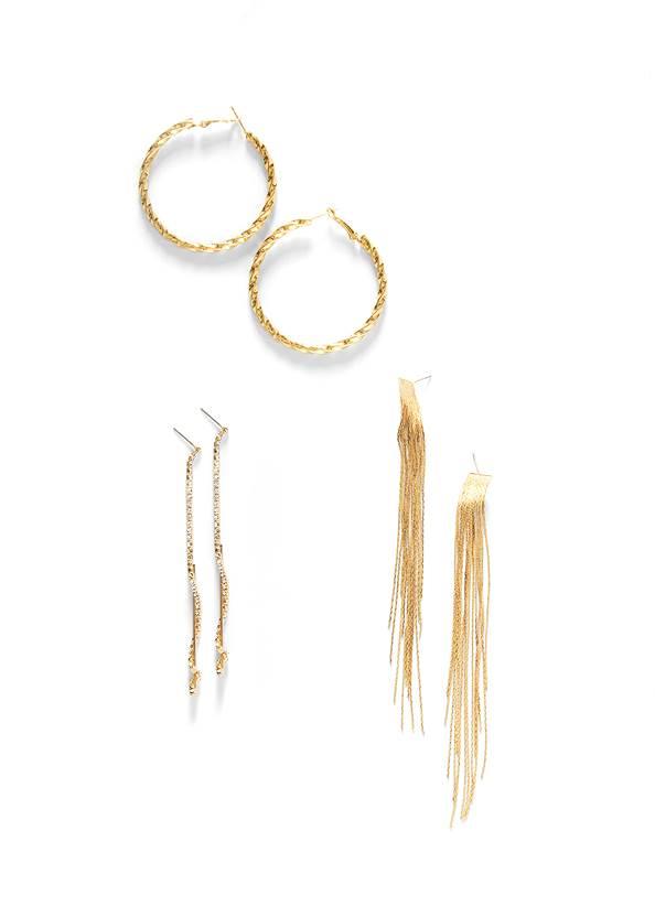 Statement Gold Earring Set