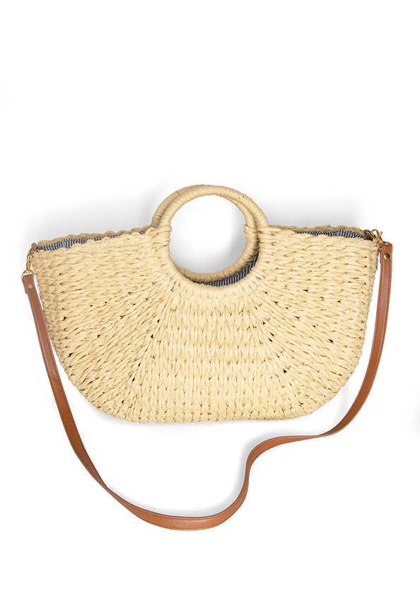 Convertible Straw Tote Bag