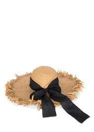Flatshot  view Packable Straw Hat