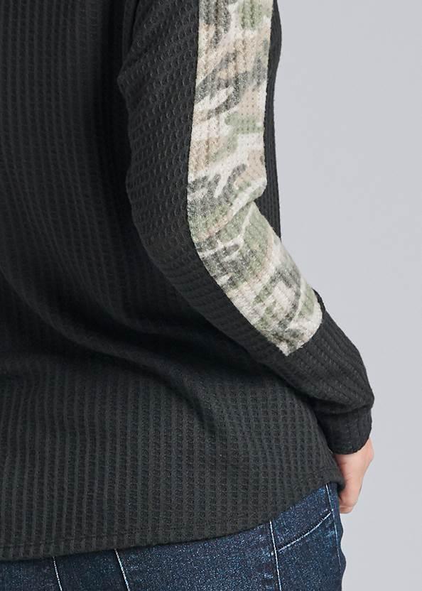 Alternate View Camo Stripe Waffle Knit Top