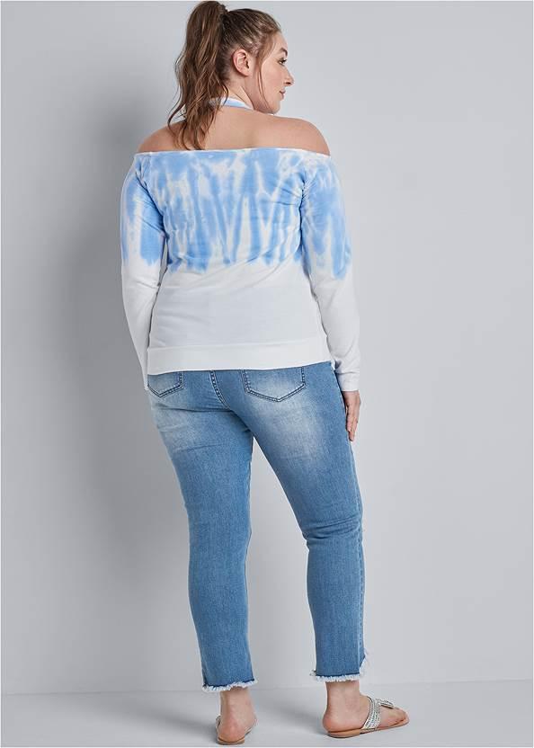 Back View Ombre Halter Neck Sweatshirt