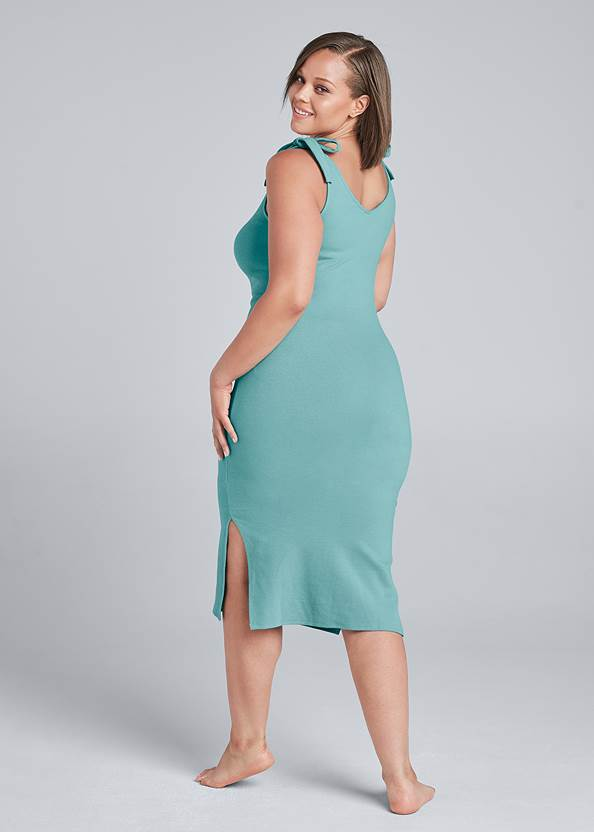 Alternate View Shoulder Tie Lounge Dress