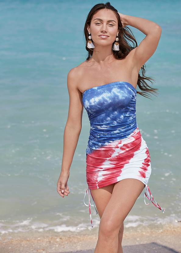 Full front view Tube Cover-Up Dress