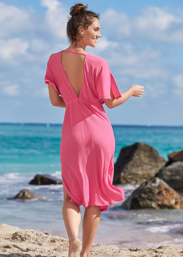 Back View Ring Front Midi Cover-Up