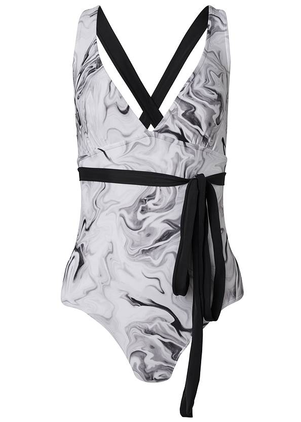 Ghost with background  view Sports Illustrated Swim™ Rio Wrap One-Piece