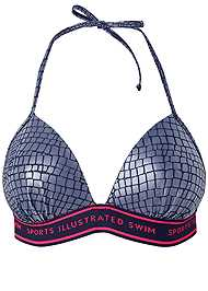 Ghost with background  view Sports Illustrated Swim™ Logo Triangle Push Up Top