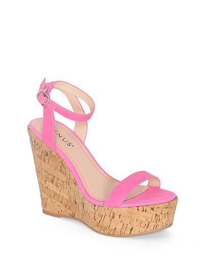Double Strap Cork Wedges
