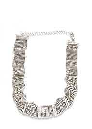 Flatshot  view Beaded Choker Necklace