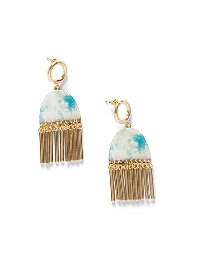 Tie Dye Tassel Earrings