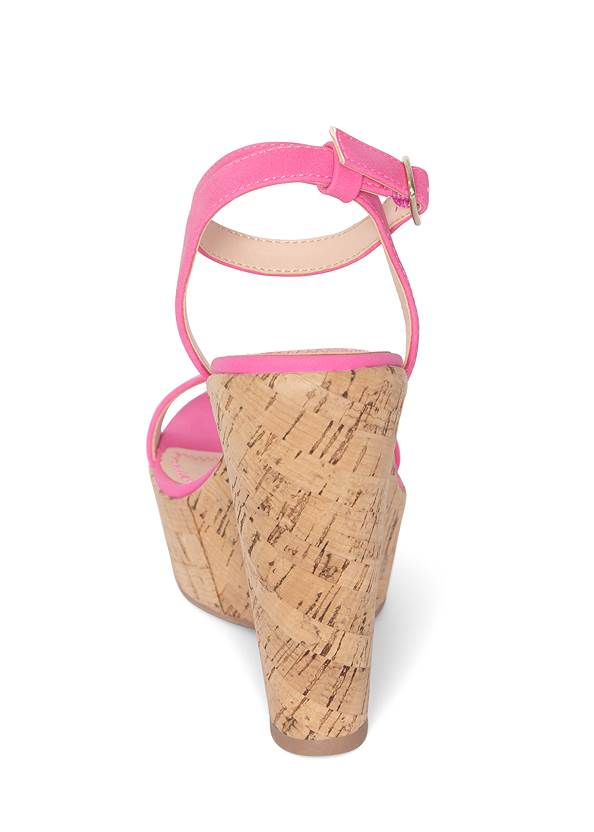 Alternate View Double Strap Cork Wedges