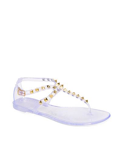 Studded Jelly Thong Sandals