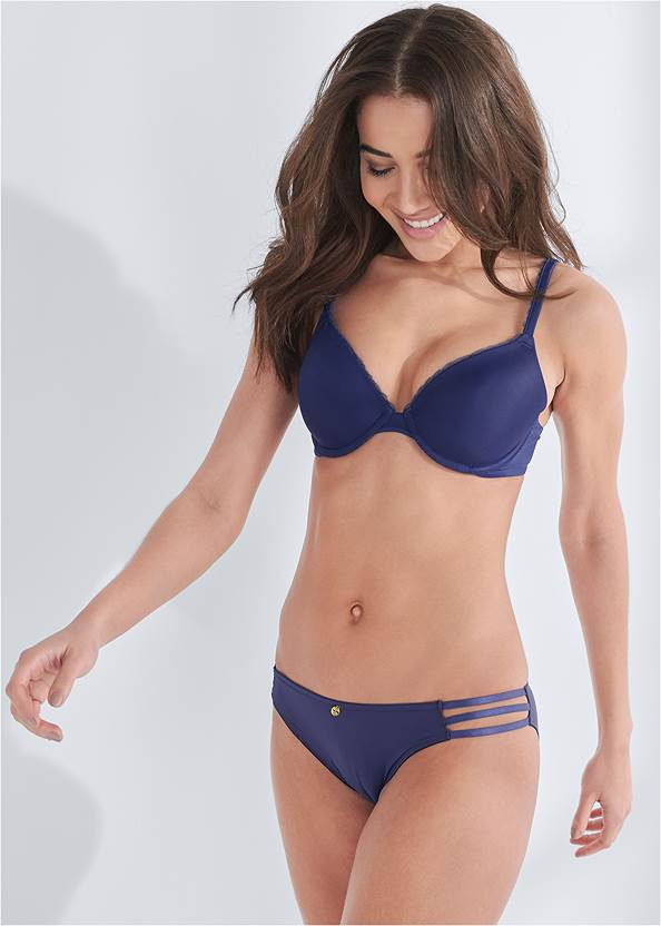 Front View Pearl™ By Venus Strappy Bikini 3 Pack
